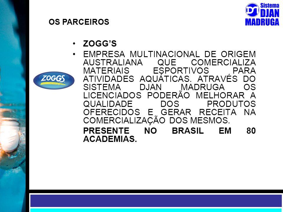 PRESENTE NO BRASIL EM 80 ACADEMIAS.