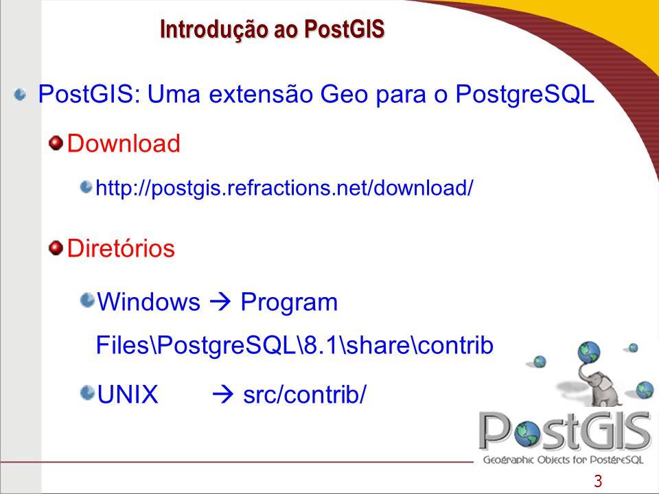 PostGIS: Uma extensão Geo para o PostgreSQL Download