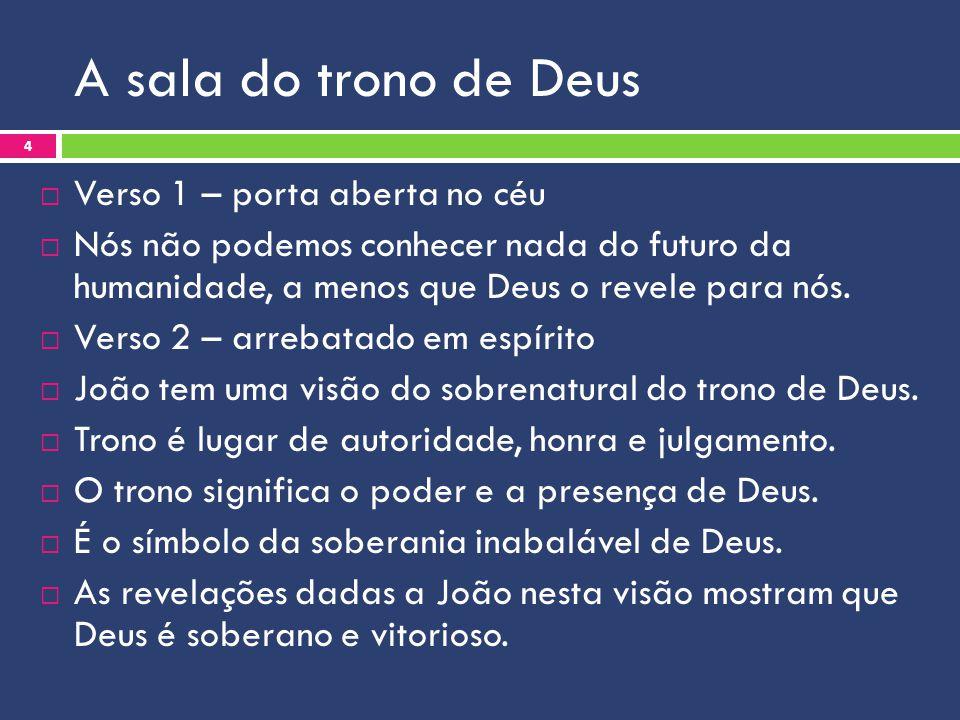 A sala do trono de Deus Verso 1 – porta aberta no céu
