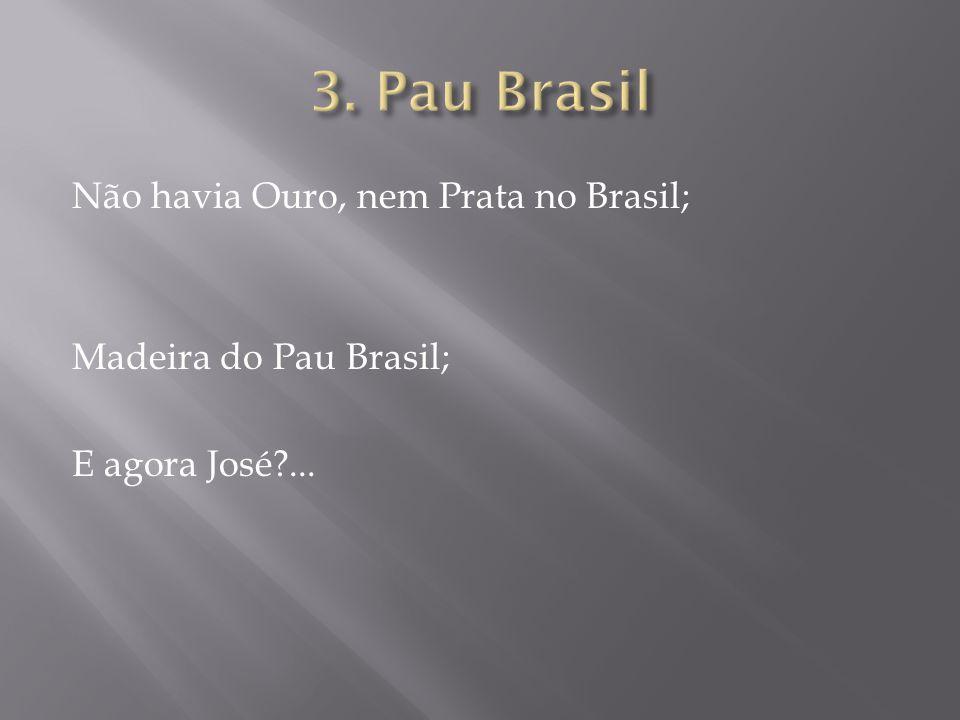 3. Pau Brasil Não havia Ouro, nem Prata no Brasil; Madeira do Pau Brasil; E agora José ...
