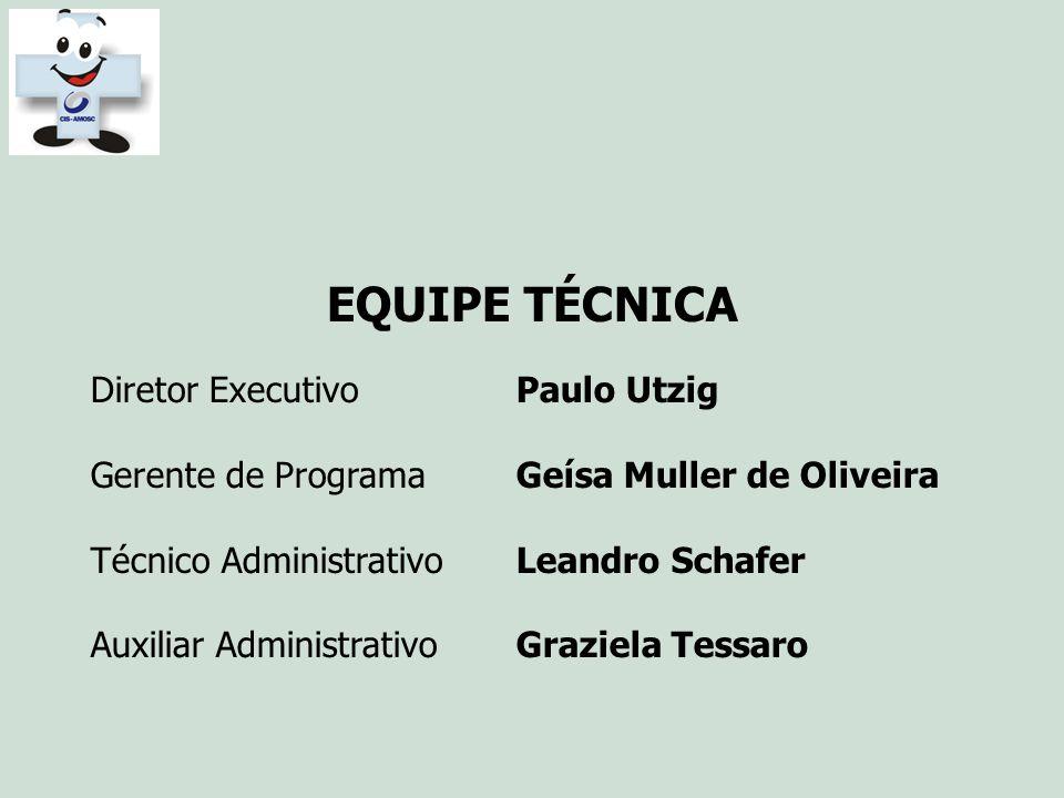 EQUIPE TÉCNICA Diretor Executivo Paulo Utzig
