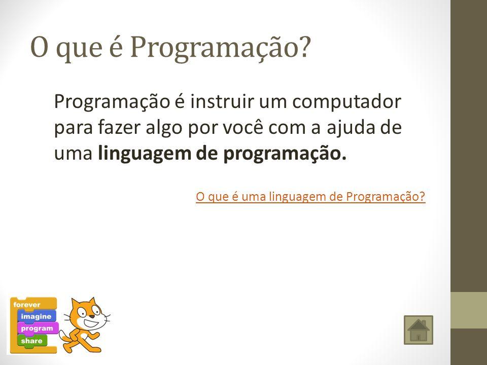 O que é Programação Programação é instruir um computador para fazer algo por você com a ajuda de uma linguagem de programação.