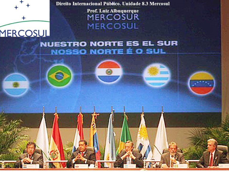 Direito Internacional Público. Unidade 8.3 Mercosul