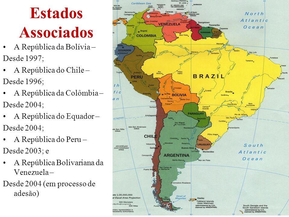 Estados Associados A República da Bolívia – Desde 1997;