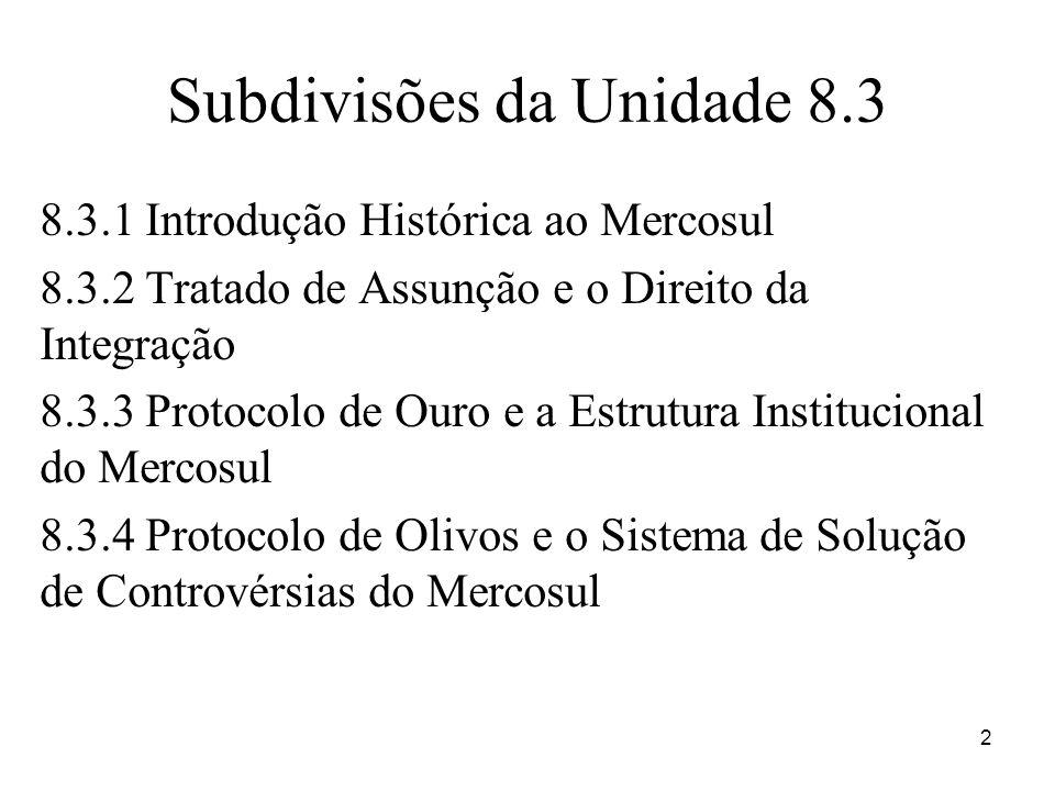 Subdivisões da Unidade 8.3