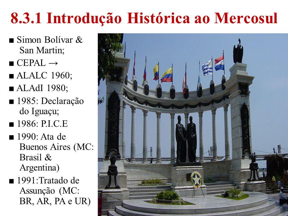 8.3.1 Introdução Histórica ao Mercosul