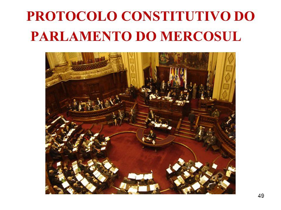 PROTOCOLO CONSTITUTIVO DO PARLAMENTO DO MERCOSUL
