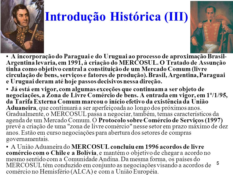 Introdução Histórica (III)