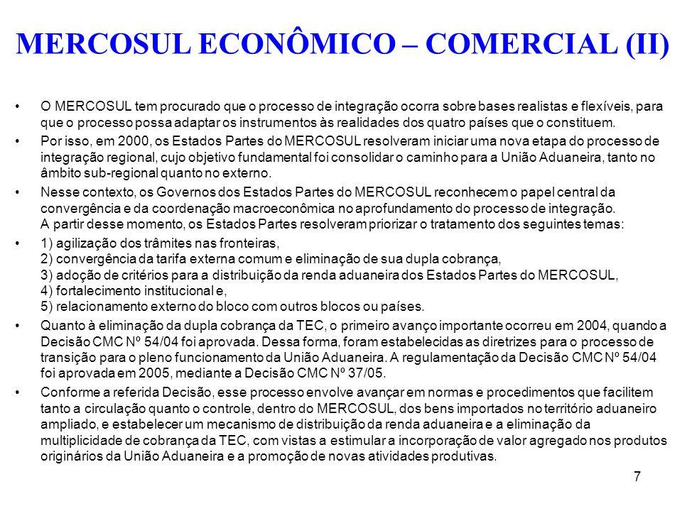 MERCOSUL ECONÔMICO – COMERCIAL (II)