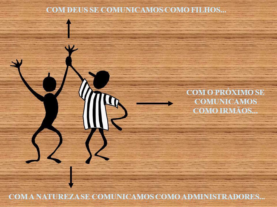 COM DEUS SE COMUNICAMOS COMO FILHOS...