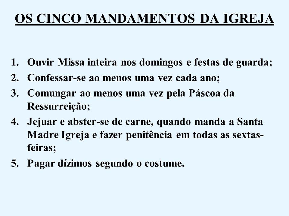 OS CINCO MANDAMENTOS DA IGREJA