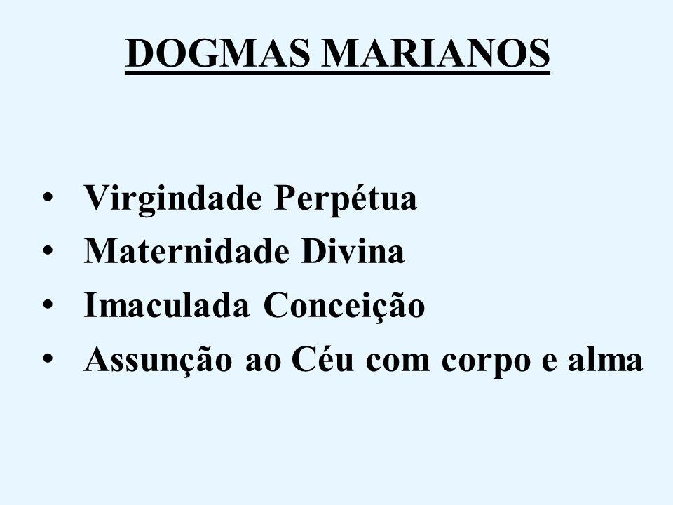 DOGMAS MARIANOS Virgindade Perpétua Maternidade Divina