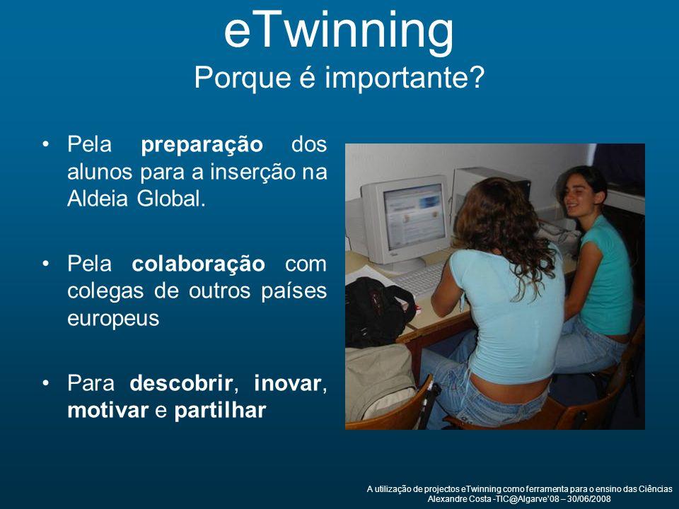 eTwinning Porque é importante