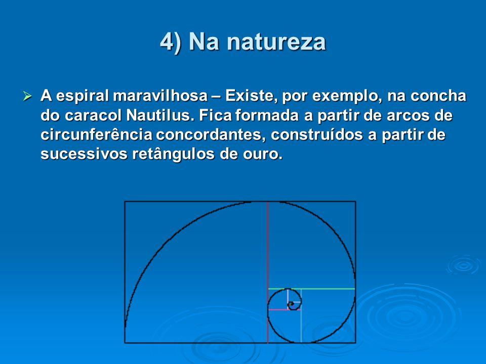 4) Na natureza