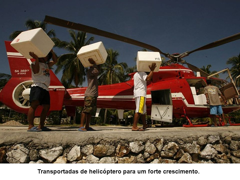 Transportadas de helicóptero para um forte crescimento.