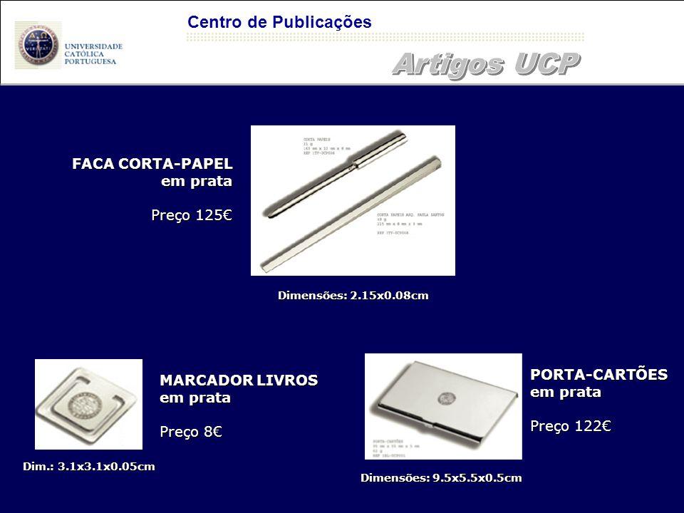 Artigos UCP Centro de Publicações FACA CORTA-PAPEL em prata Preço 125€