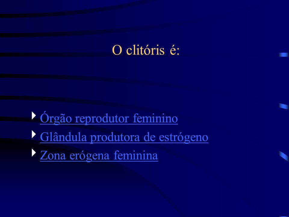 O clitóris é: Órgão reprodutor feminino