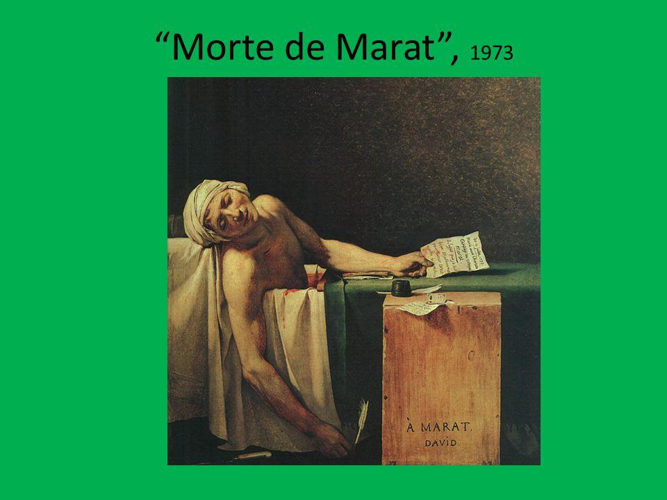 Morte de Marat , 1973