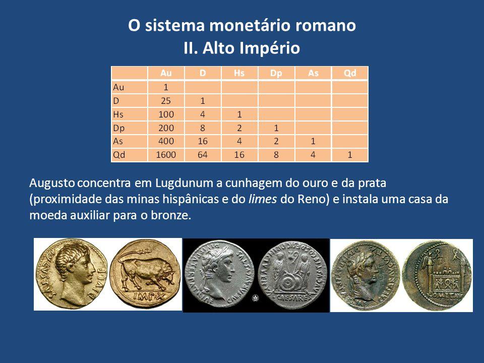 O sistema monetário romano II. Alto Império