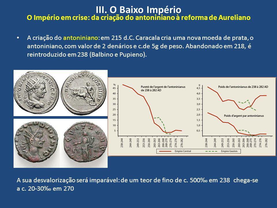 III. O Baixo Império O Império em crise: da criação do antoniniano à reforma de Aureliano