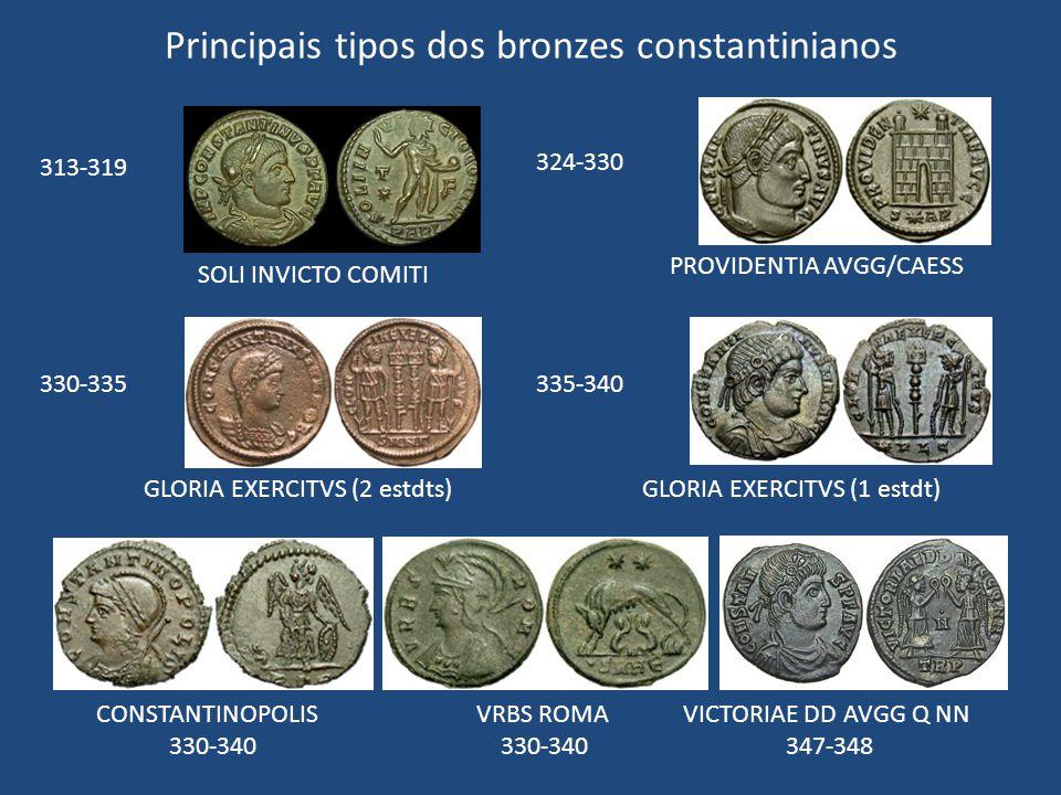 Principais tipos dos bronzes constantinianos