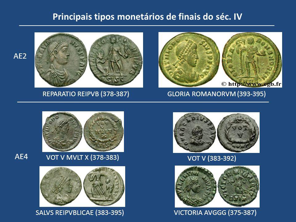 Principais tipos monetários de finais do séc. IV