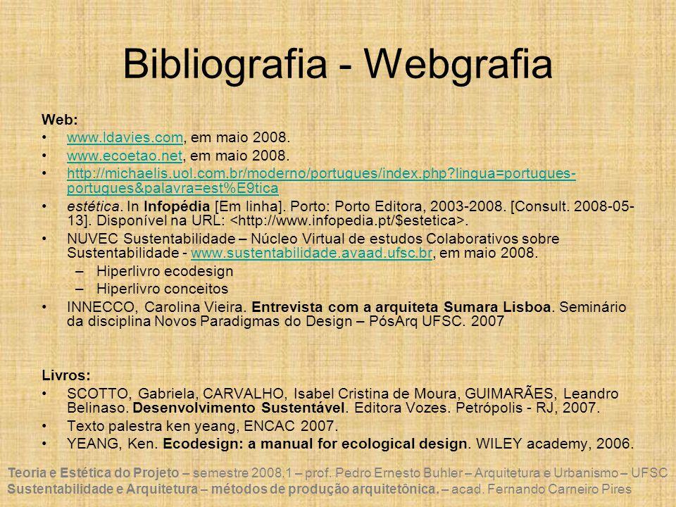 Bibliografia - Webgrafia