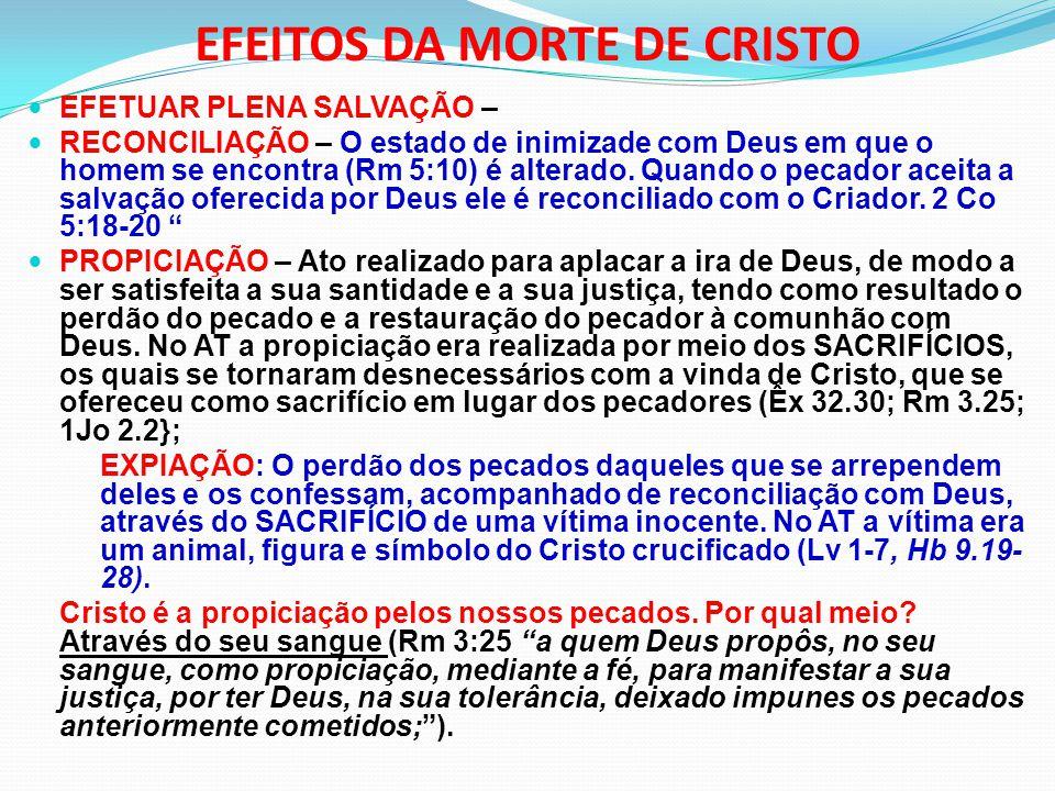 EFEITOS DA MORTE DE CRISTO