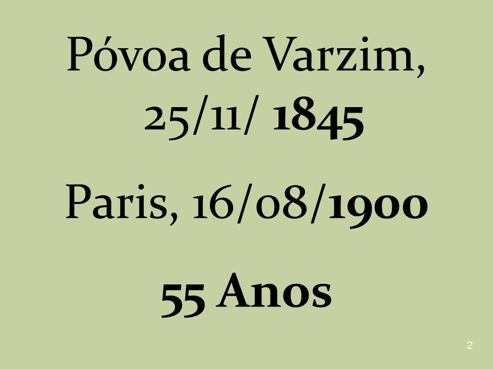 Póvoa de Varzim, 25/11/ 1845 Paris, 16/08/1900 55 Anos