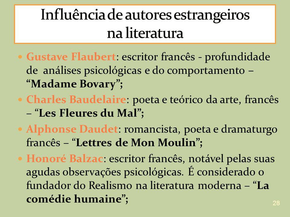 Influência de autores estrangeiros na literatura