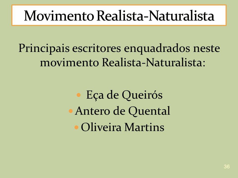 Movimento Realista-Naturalista