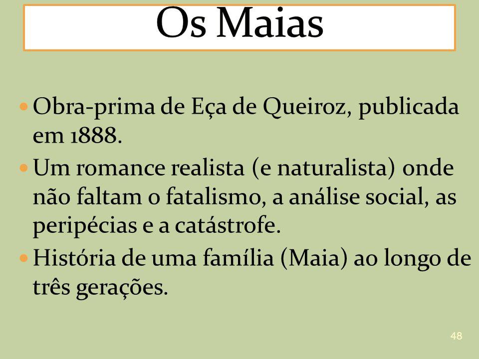 Os Maias Obra-prima de Eça de Queiroz, publicada em 1888.