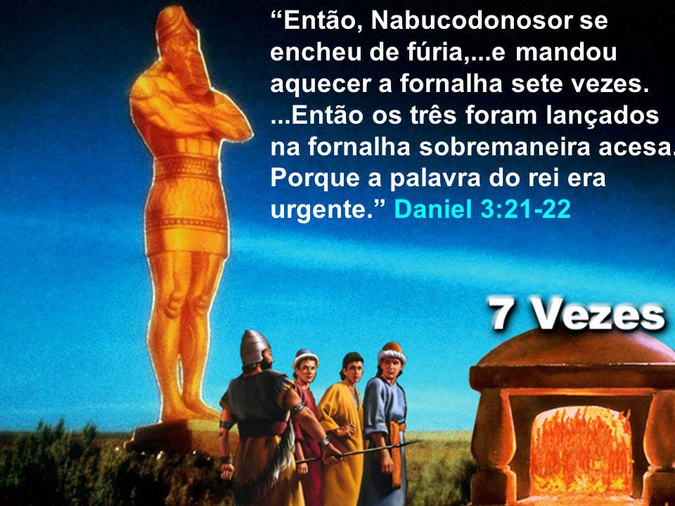 Então, Nabucodonosor se encheu de fúria,