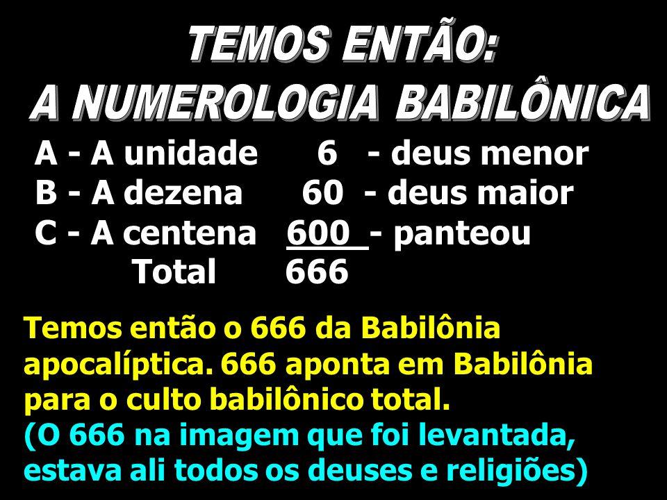 A NUMEROLOGIA BABILÔNICA