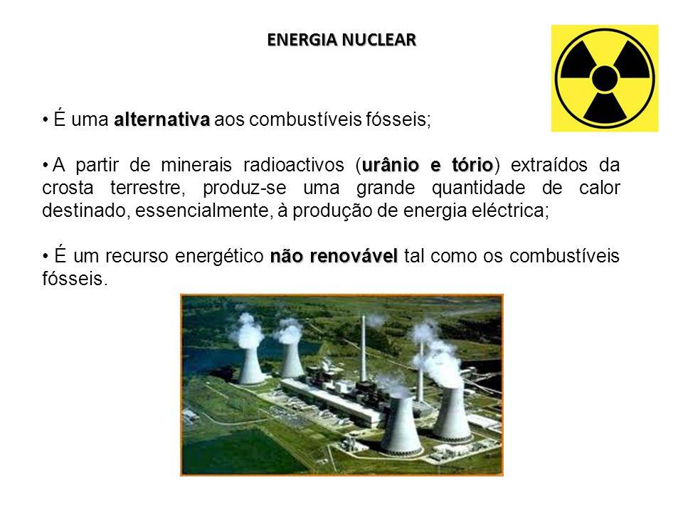 ENERGIA NUCLEAR É uma alternativa aos combustíveis fósseis;