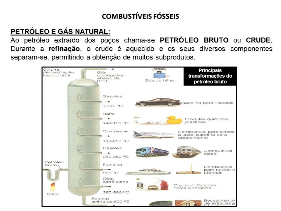 COMBUSTÍVEIS FÓSSEIS PETRÓLEO E GÁS NATURAL: