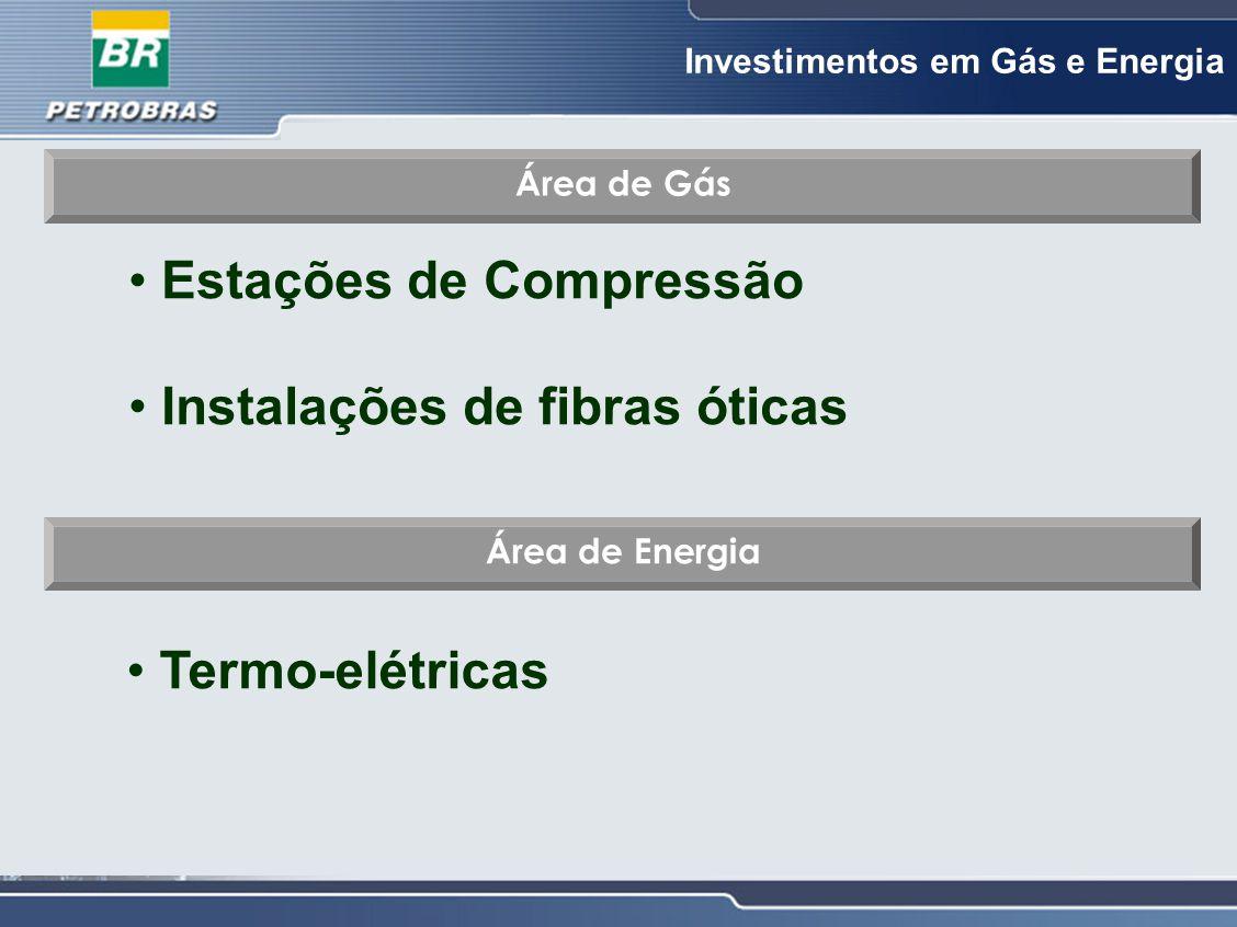 Estações de Compressão Instalações de fibras óticas