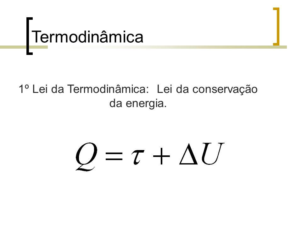 1º Lei da Termodinâmica: Lei da conservação da energia.
