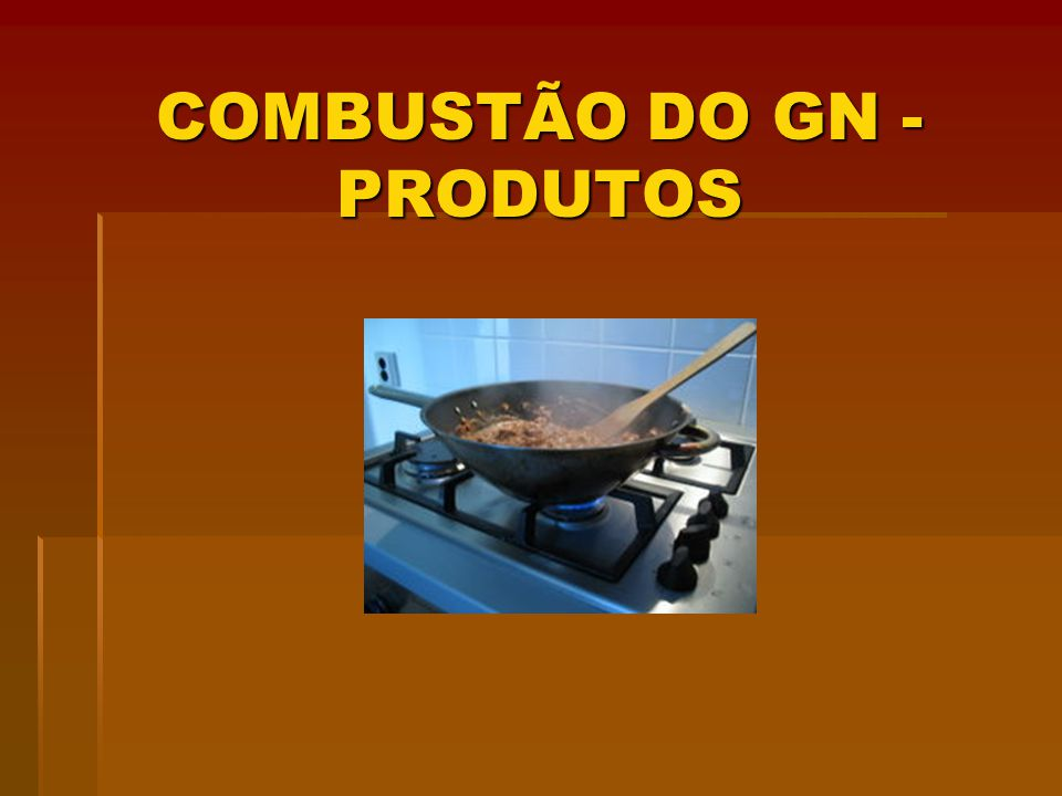 COMBUSTÃO DO GN - PRODUTOS