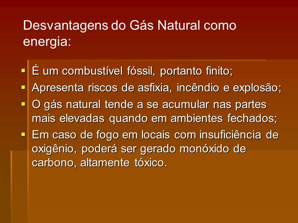 Desvantagens do Gás Natural como energia: