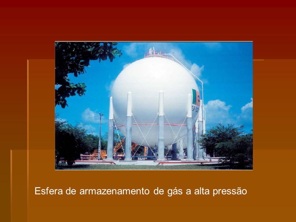 Esfera de armazenamento de gás a alta pressão