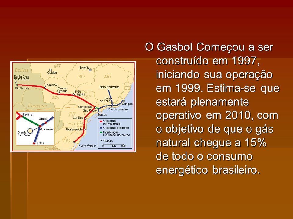 O Gasbol Começou a ser construído em 1997, iniciando sua operação em 1999.