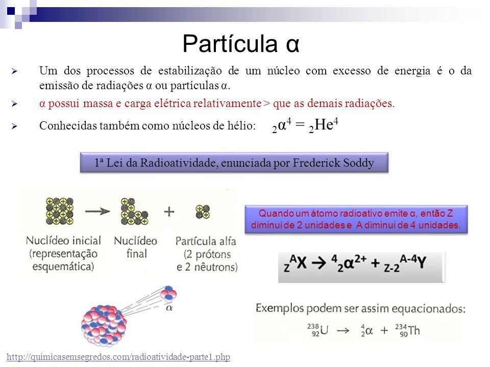 1ª Lei da Radioatividade, enunciada por Frederick Soddy