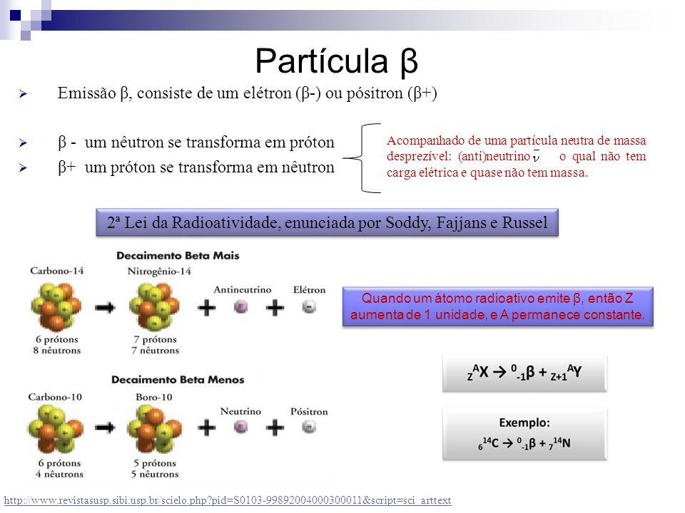 2ª Lei da Radioatividade, enunciada por Soddy, Fajjans e Russel