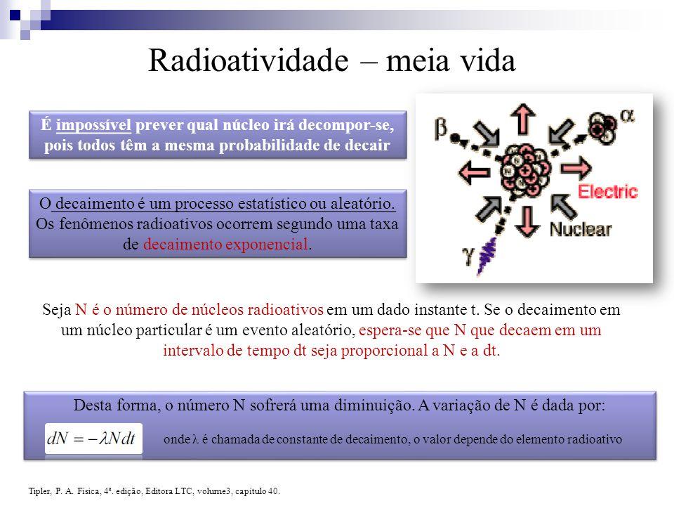 Radioatividade – meia vida