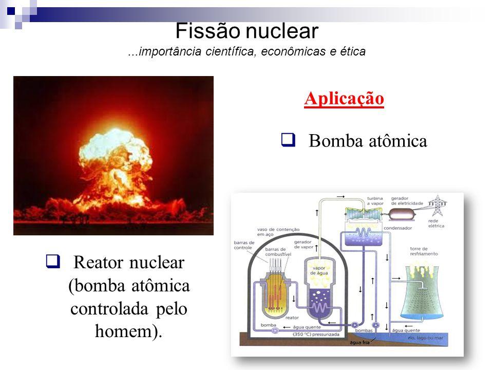 Fissão nuclear ...importância científica, econômicas e ética