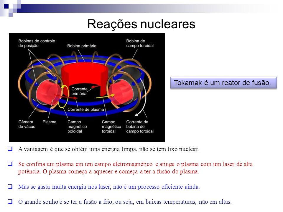 Tokamak é um reator de fusão.