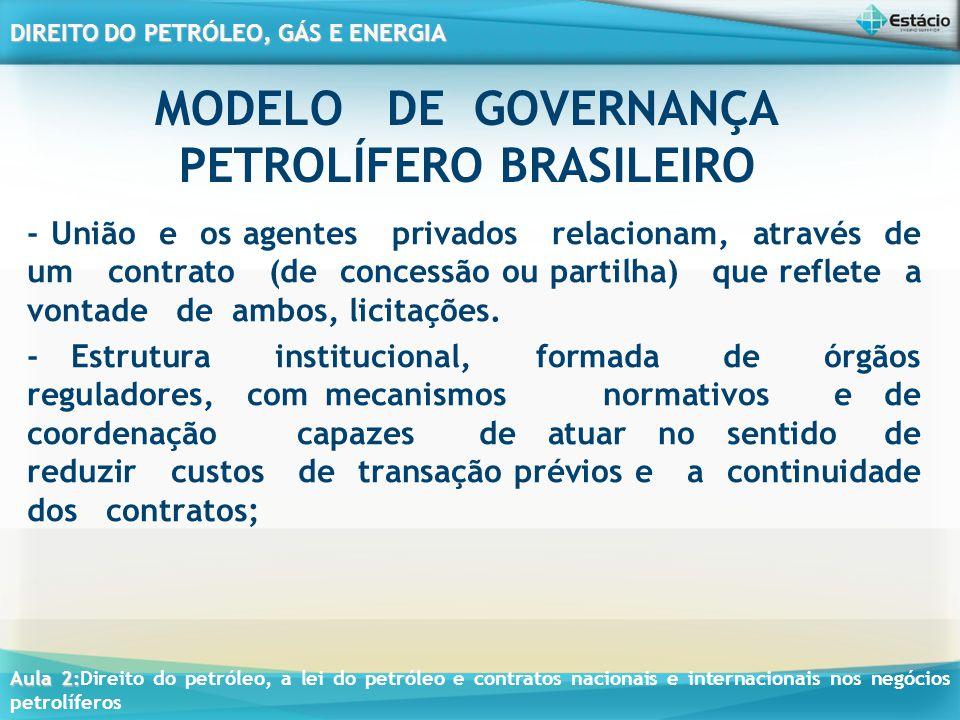 MODELO DE GOVERNANÇA PETROLÍFERO BRASILEIRO