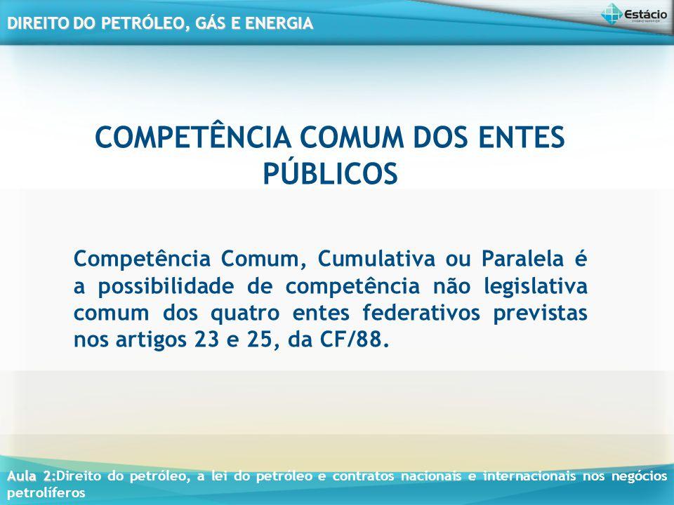 COMPETÊNCIA COMUM DOS ENTES PÚBLICOS