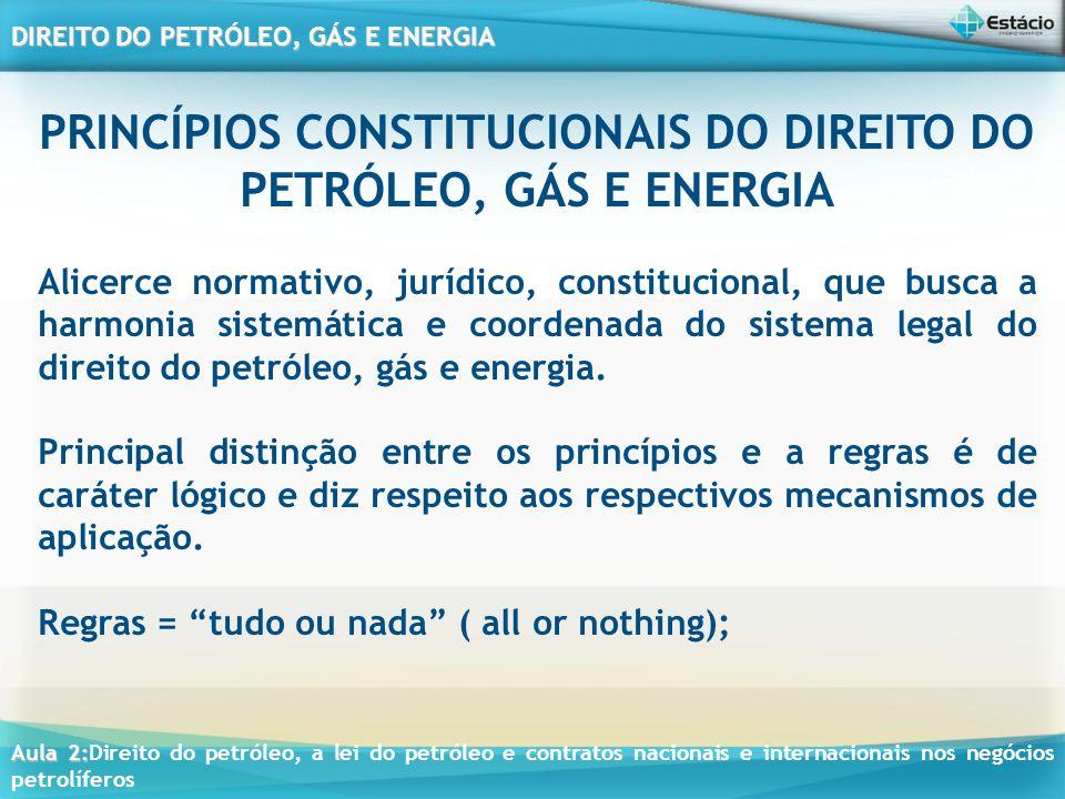 PRINCÍPIOS CONSTITUCIONAIS DO DIREITO DO PETRÓLEO, GÁS E ENERGIA
